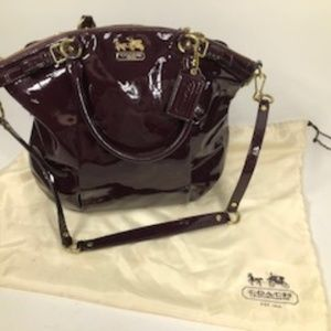 COACH MADISON SOPHIE PATENT LEATHER SHOULDER BAG